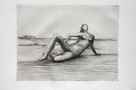 Gravure Moore - The Reclining Figure (Plate 4)