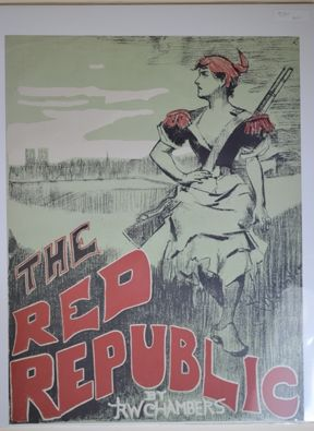 Lithographie Chambers - The Red Republic