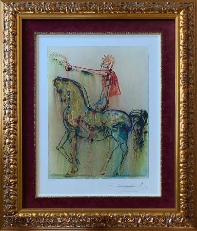 Lithographie Dali - The Roman Cavalier (Le Chevalier Roman)
