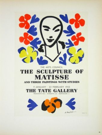 Lithographie Matisse - The Sculpture of Matisse  Tate Galerie 1953