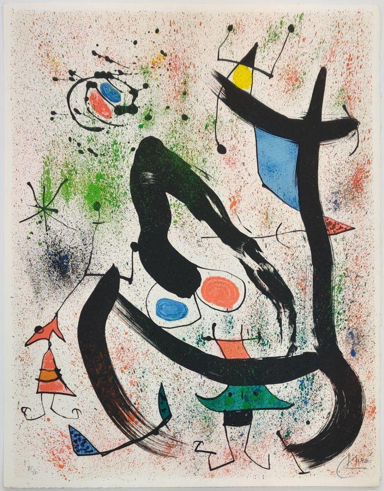 Lithographie Miró - THE SEERS IV (LES VOYANTS)
