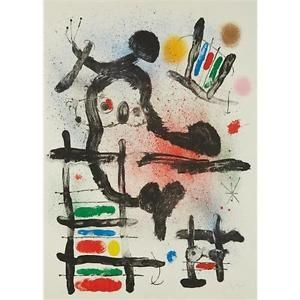 Lithographie Miró - The Slingshot Bird
