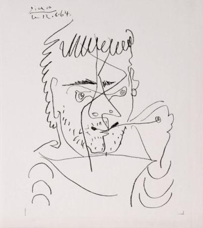 Lithographie Picasso - The Smoker, Daniel Henri Kahnweiler