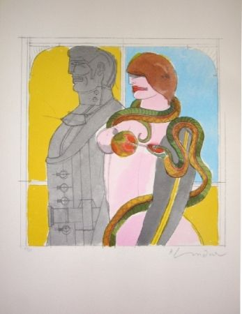 Lithographie Lindner - The Snake