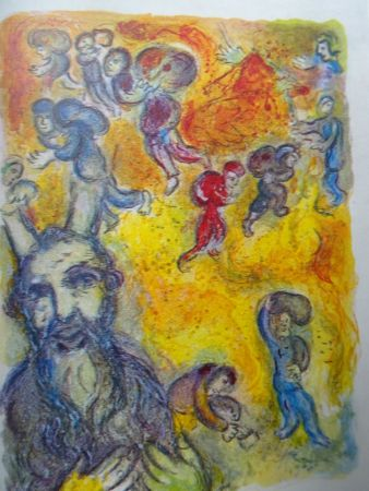 Lithographie Chagall - The story of the Exodus, plate 3:  En ces jours