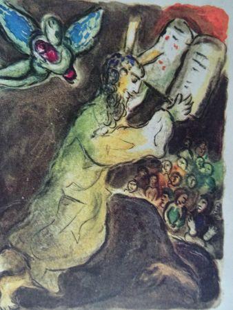 Lithographie Chagall - The Story of the Exodus, plate number 20:Voici les Paroles du Seigneur..