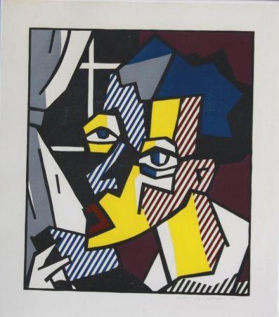 Gravure Sur Bois Lichtenstein - The Student