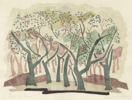 Gravure Sur Bois Aldrin - The Sycamore Grove