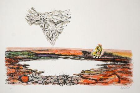 Lithographie Schreiber - The Thinker