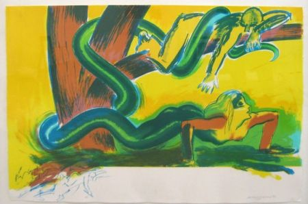 Lithographie Jones - The tree