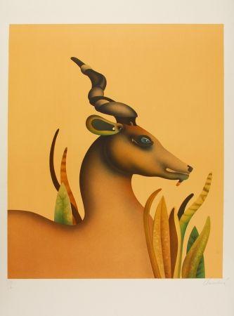 Lithographie Donadini - The Unicorn / La licorne