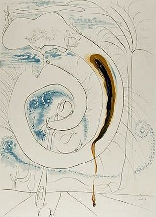 Gravure Dali - The visceral circle of the cosmos