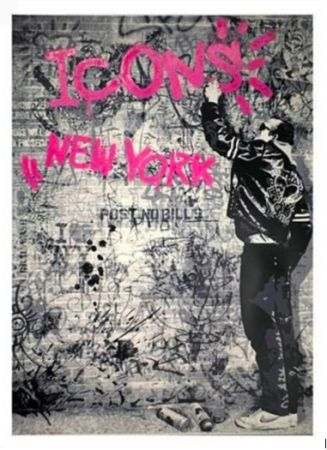 Sérigraphie Mr Brainwash - The Wall (Pink), 2012