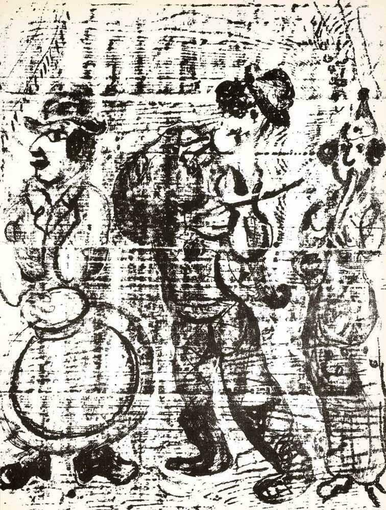 Lithographie Chagall - The Wandering Musicians M. 396