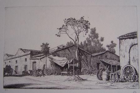 Gravure Strang - The Wheelwright's Shop