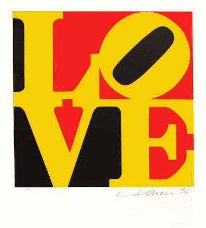 Sérigraphie Indiana - The Word from The Book of Love