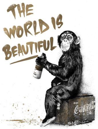 Sérigraphie Mr Brainwash - The World Is Beautiful