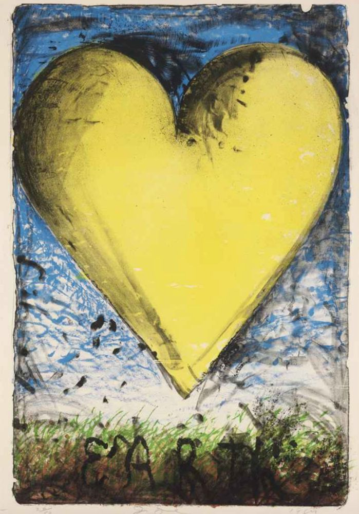 Lithographie Dine - The Yellow Heart