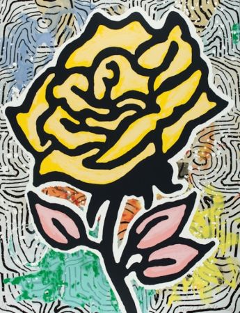 Sérigraphie Baechler - The Yellow Rose