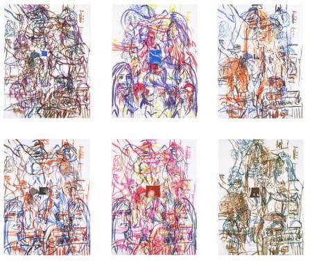 Lithographie Salle - Theme for an Aztec Moralist Portfolio