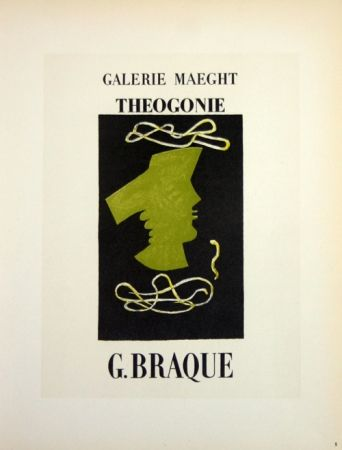 Lithographie Braque - Theogonie  Galerie Maeght