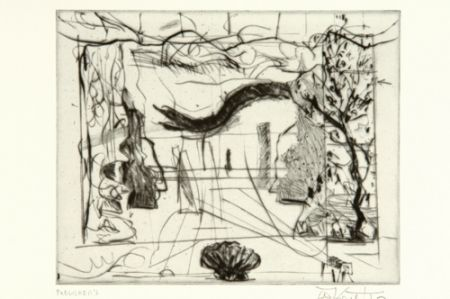 Pointe-Sèche Kentridge - Thinking Aloud, Small Thoughts, Stage Set With Serpent