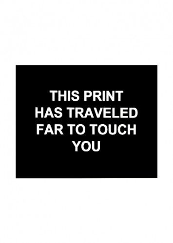 Gravure Prouvost  - This print has traveled far to touch you