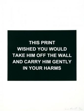 Gravure Prouvost  - This print wished you would....