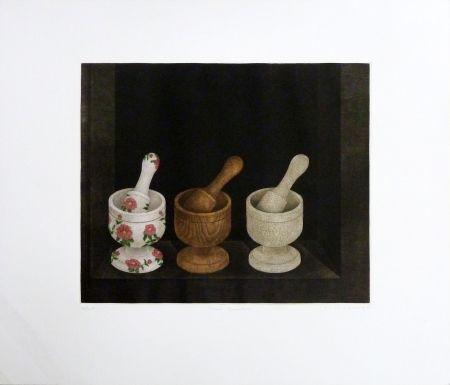 Gravure Hwang - Three Grinders