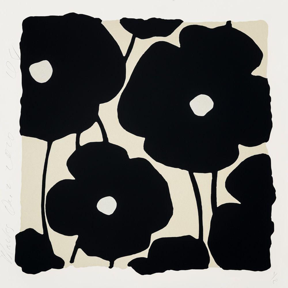 Sérigraphie Sultan - Three Poppies (Black)