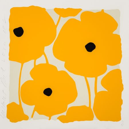 Sérigraphie Sultan - Three Poppies (Yellow)