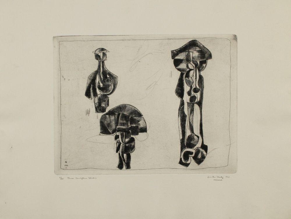 Gravure Hadzi - Three Sculpture Studies