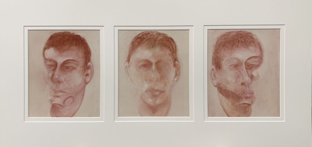 Lithographie Bacon - Three studies for a portrait of John Edwards