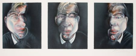 Lithographie Bacon - Three studies for a Self-portrait, 1981
