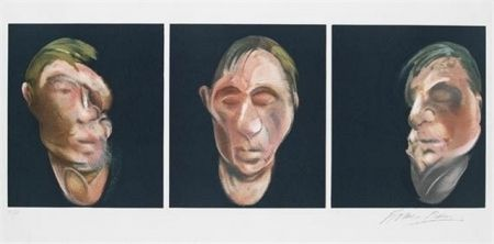 Lithographie Bacon - Three Studies for a Self Portrait