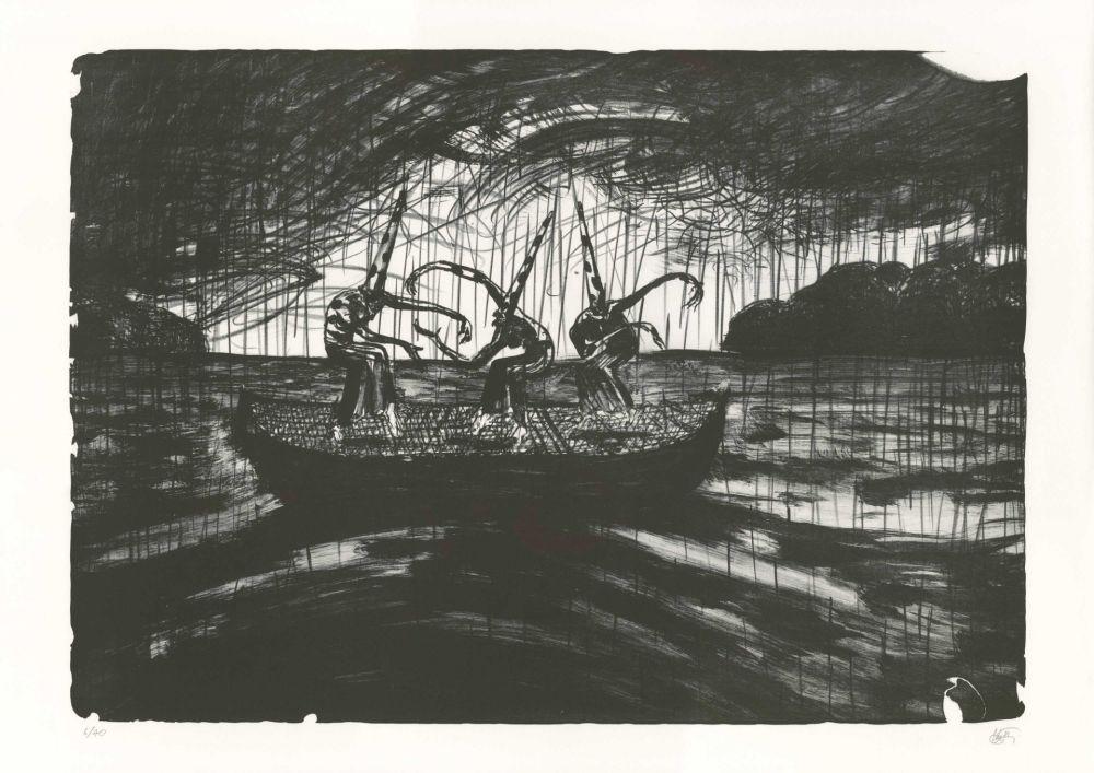 Lithographie Mattotti - Tiepolo - La Barque