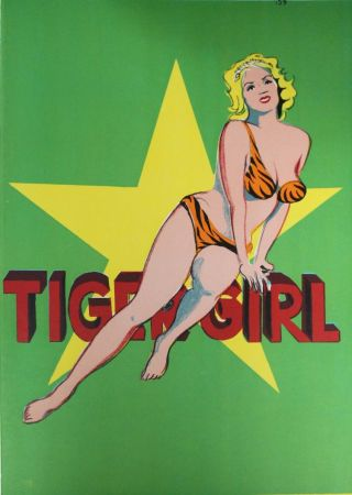Lithographie Ramos - Tiger Girl