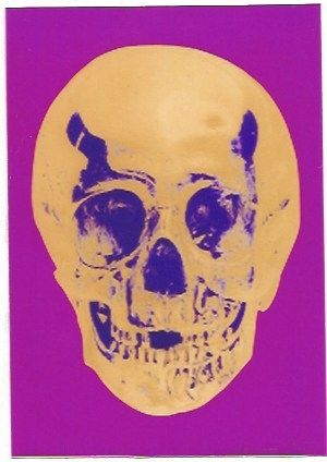 Sérigraphie Hirst - Till Death do us Part - Long life Purple African Gold Purple Imperial Purple Skull