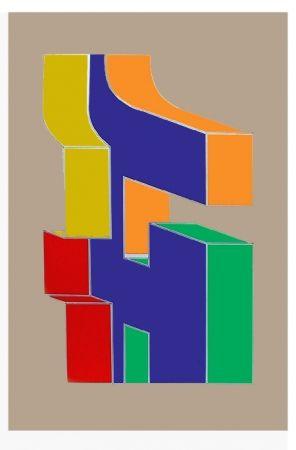 Sérigraphie Chryssa - Times Square Fragment #10