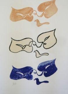 Lithographie Braque - Tirée de La liberté des mers