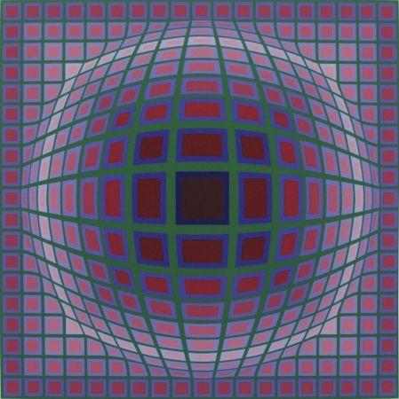 Sérigraphie Vasarely - Titan A