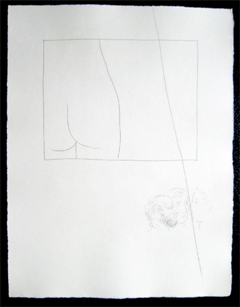 Gravure Picasso - Title:Fragment de corps de femme  Fragment of a woman's body
