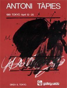 Affiche Tàpies - Tokyo. April 13-25. Gallery Ueda