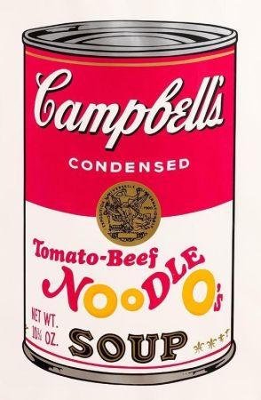 Sérigraphie Warhol - Tomato-Beef Noodle O's (FS II.61)