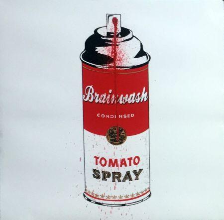 Sérigraphie Mr Brainwash - Tomato Spray Can