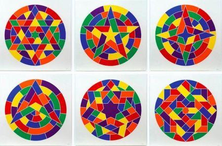 Linogravure Lewitt - Tondo Stars Set of 6
