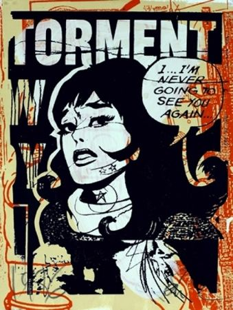 Sérigraphie Faile - Torment in Orange