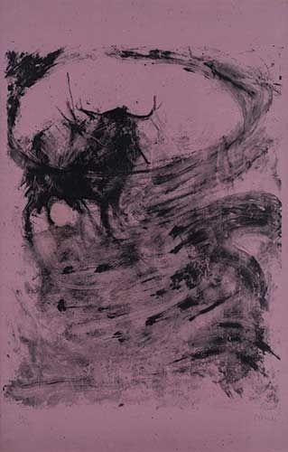 Lithographie Barcelo - Toros
