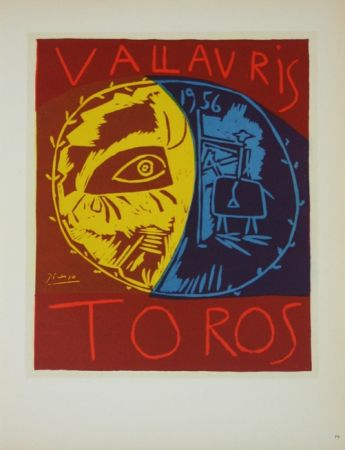 Lithographie Picasso (After) - Toros en Vallauris