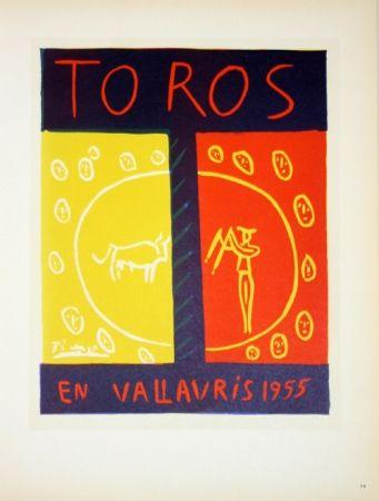Lithographie Picasso - Toros en Vallauris